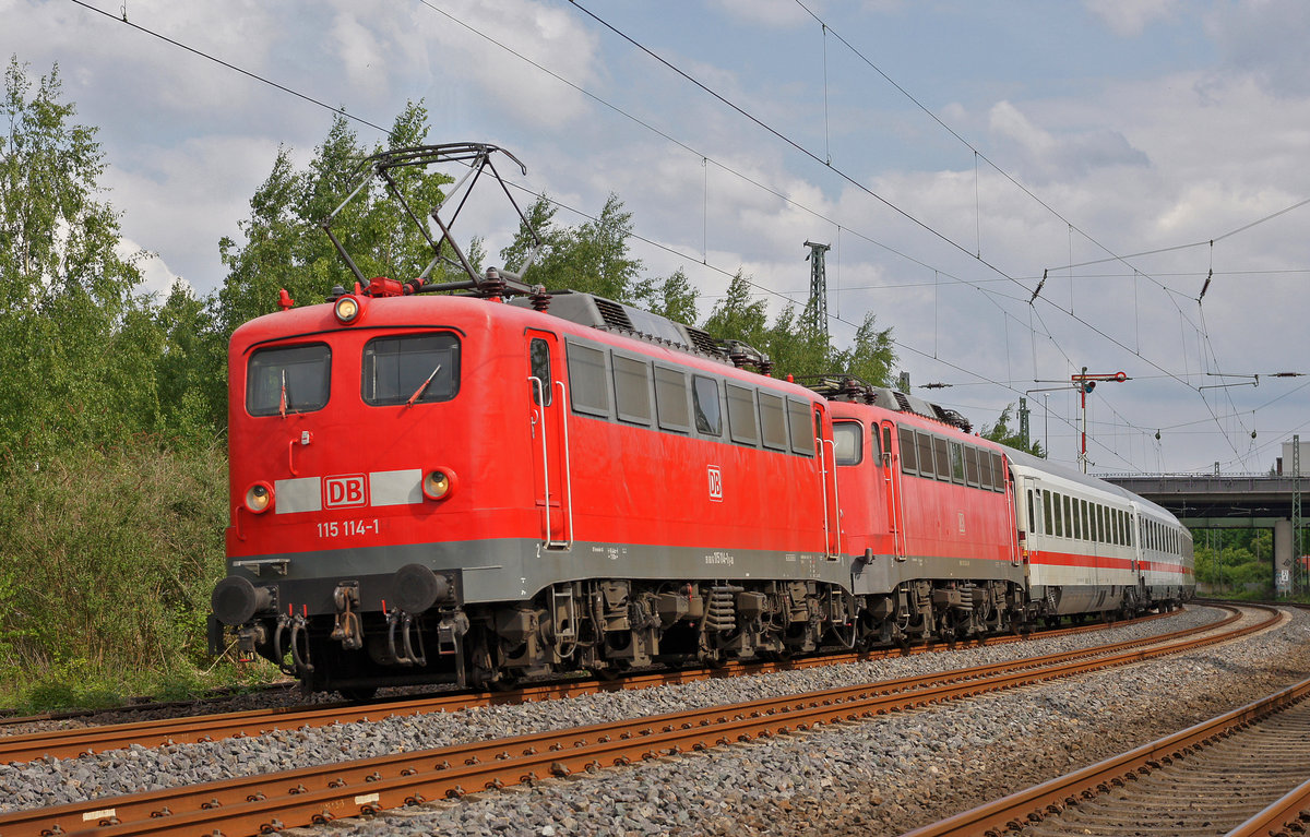 Lokomotive 115 114-1 als PbZ am 09.05.2018 in Dortmund.