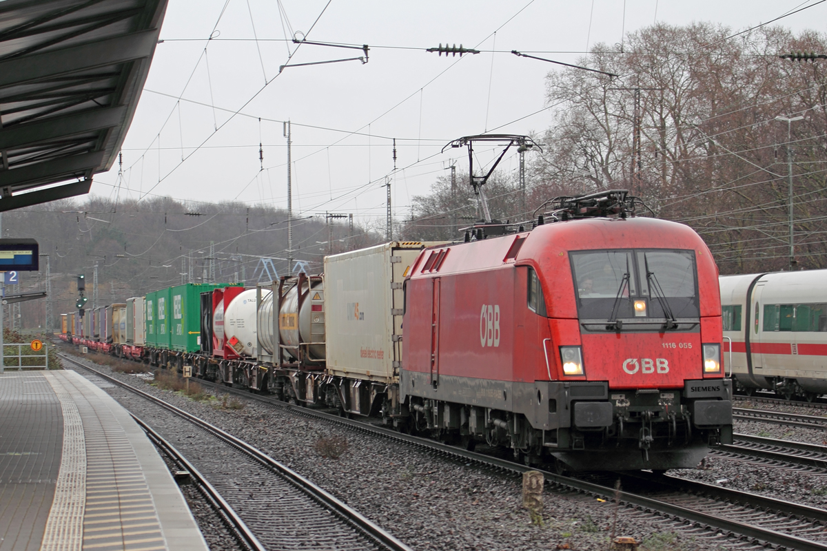 ÖBB 1116 055 in Köln-West 6.2.2021