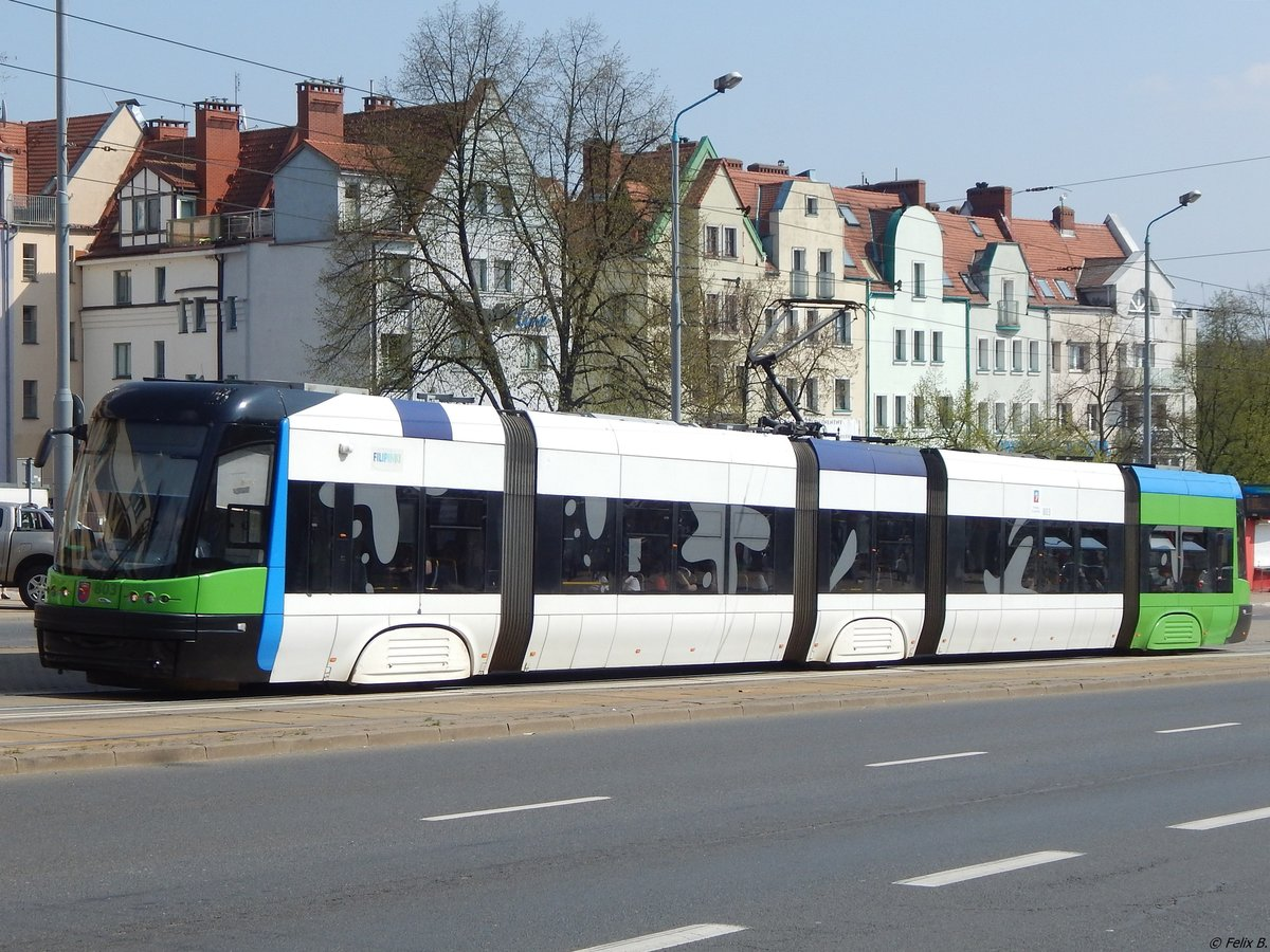Pesa Swing Tw Nr.803 in Stettin am 18.04.2018