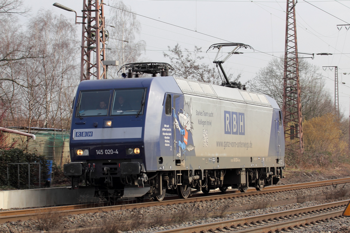 RBH 145 020-4 in Recklinghausen-Ost 20.2.2019