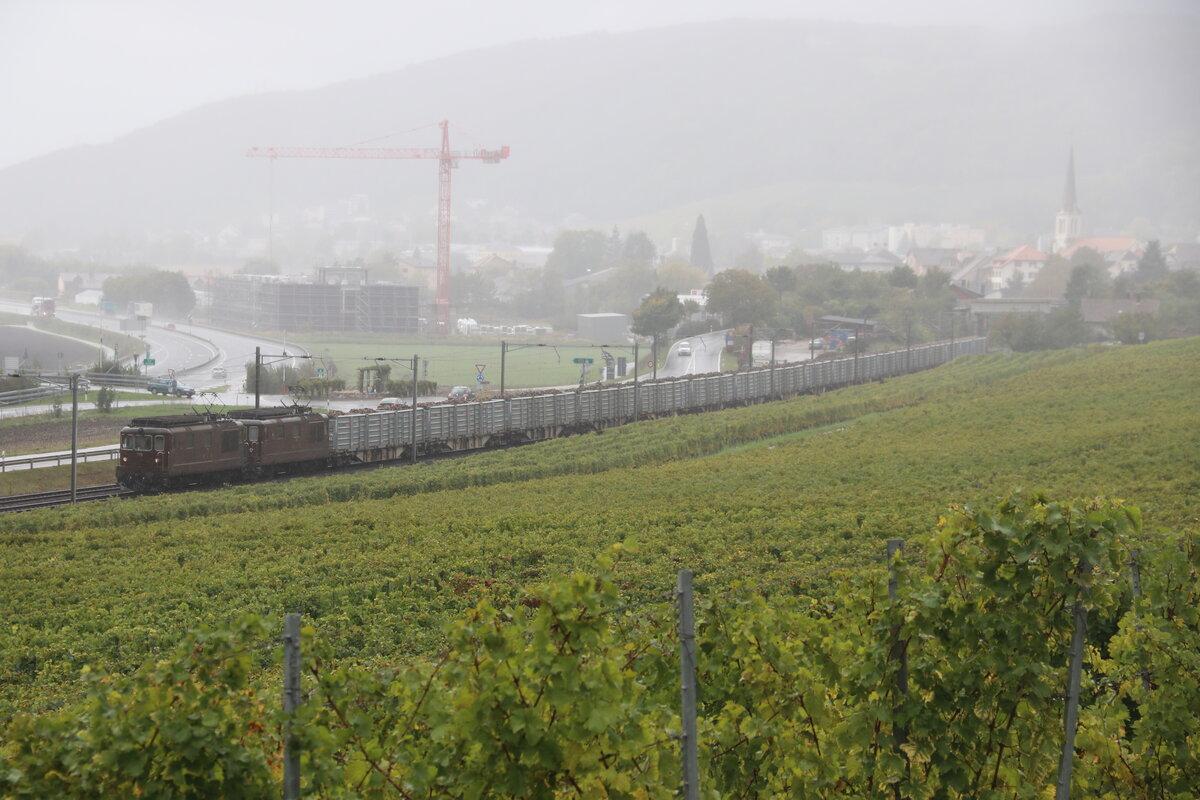 RE 29028 (Konstanz-St.Georgen(Schwarzw)) mit Schublok 146 236-5  Triberg/Schwarzwaldbahnerlebnispfad  bei Radolfzell 3.5.21