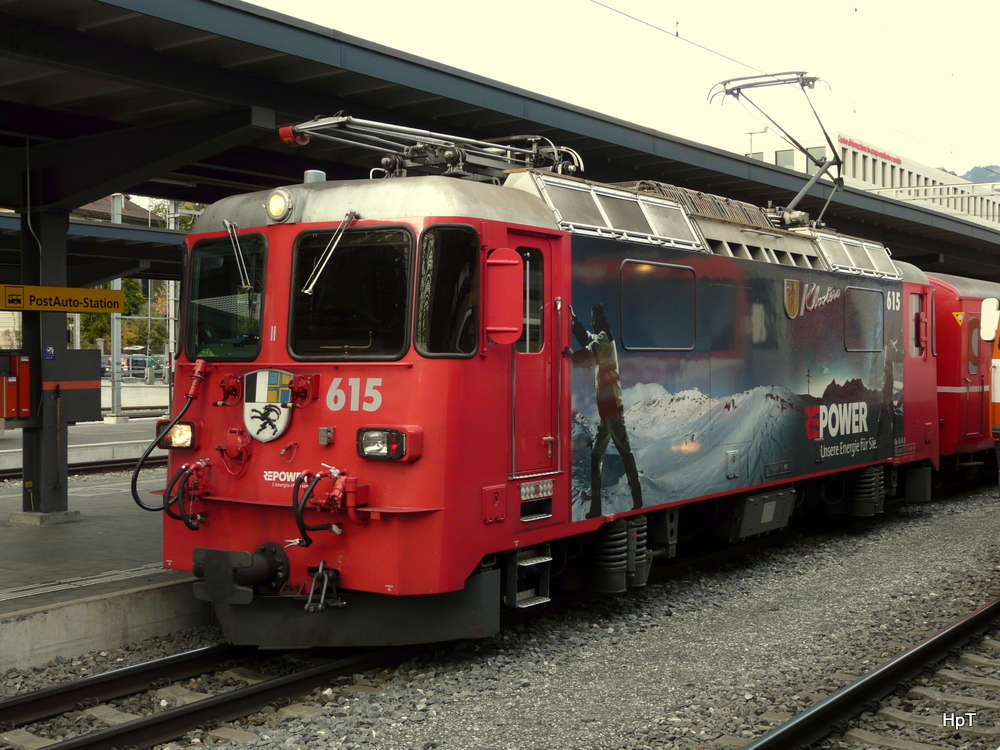 RhB - Ge 4/4  615 in Chur am 18.10.2013