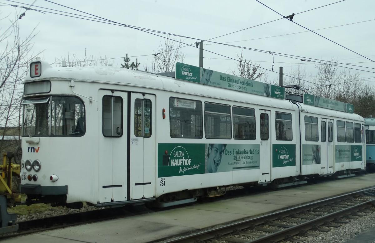 Rnv Düwag Gt6 234 Ex Hsb Am 280315 Im Depot Ludwigshafen Auf Den
