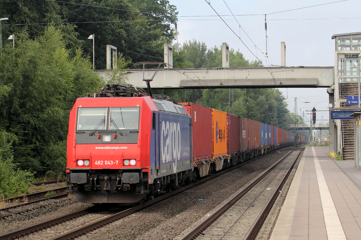 SBB Cargo 482 043-7 in Tostedt 12.7.2018