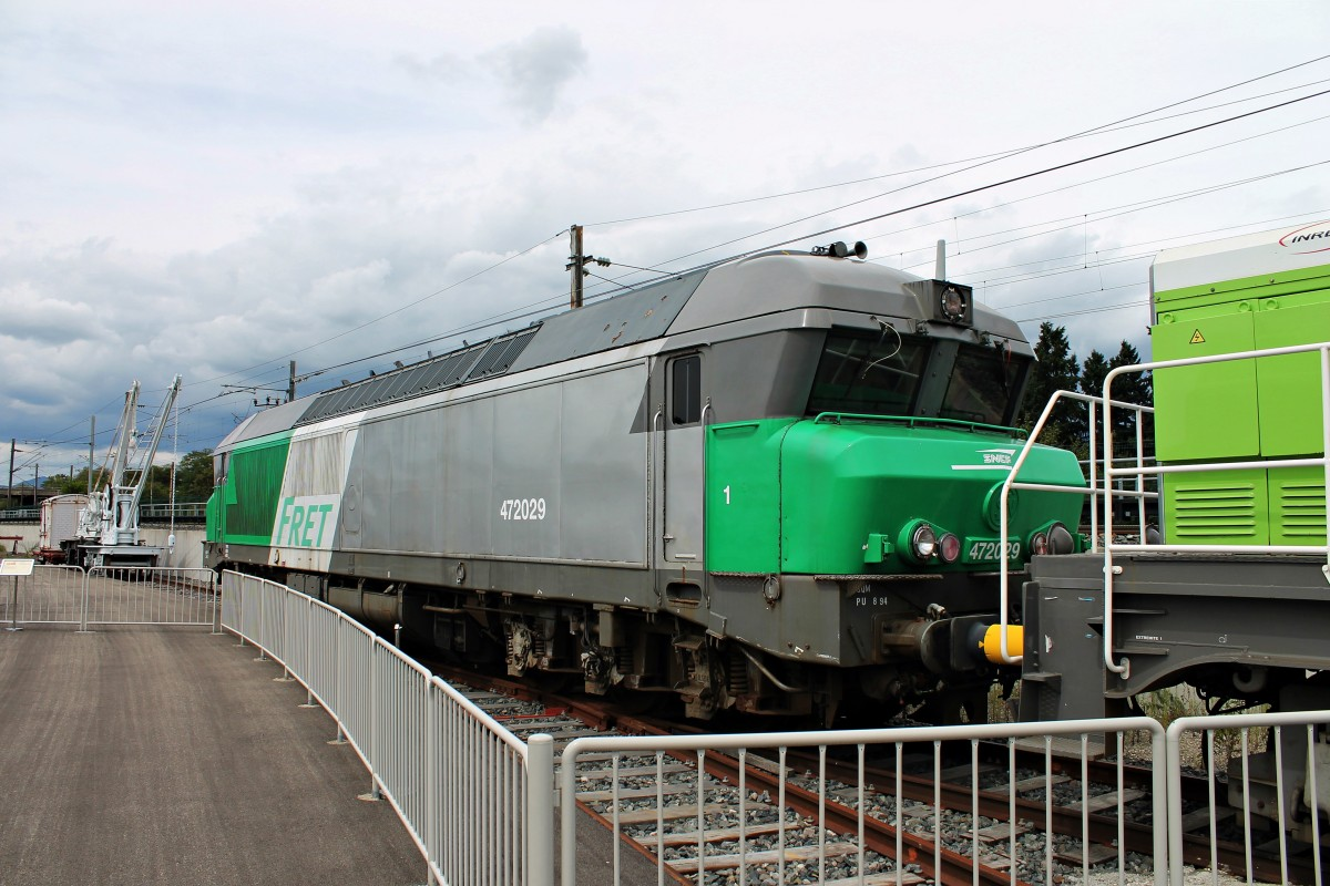 SNCF FRET CC 472029 am 20.08.2014 im Cité du Train in Mulhouse.