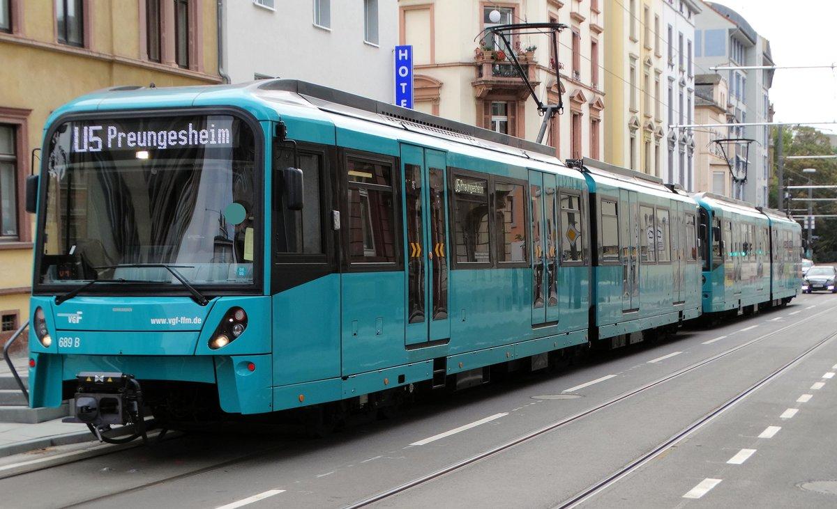 Vgf Bombardier U5 25 Wagen 689 Am 131016 In Frankfurt Musterschule