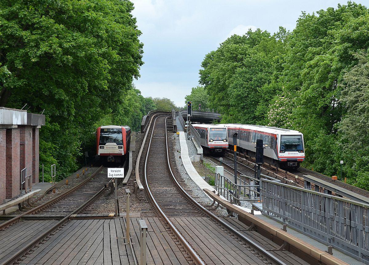 Viel Betrieb In Hamburg Eppendorf Blick Von Der