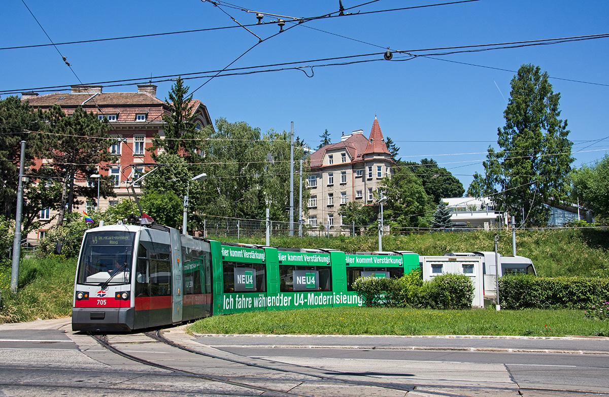 Wien Ulf B1 705 Als Linie 49 In Der Schleife Baumgarten 07062016