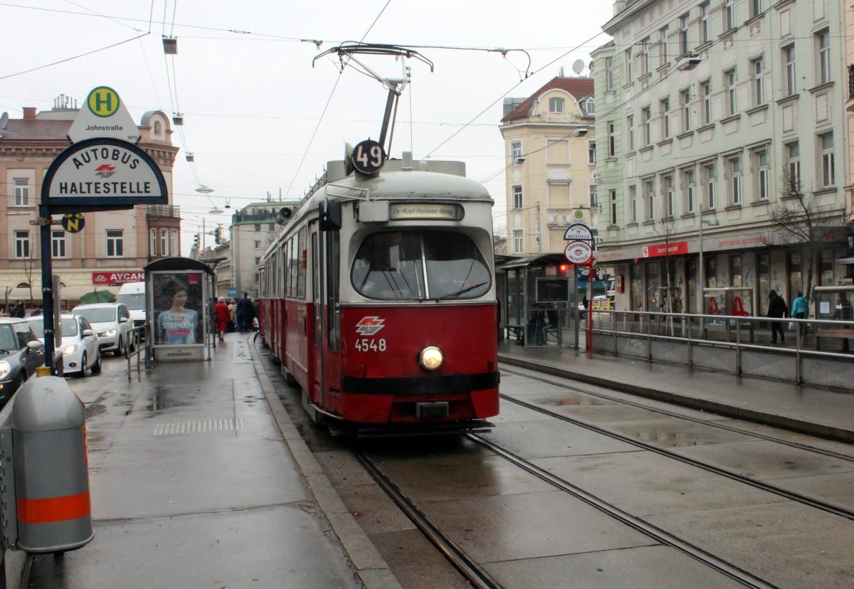 Wien Wiener Linien Sl 49 E1 4548 Hütteldorfer Straße Hst