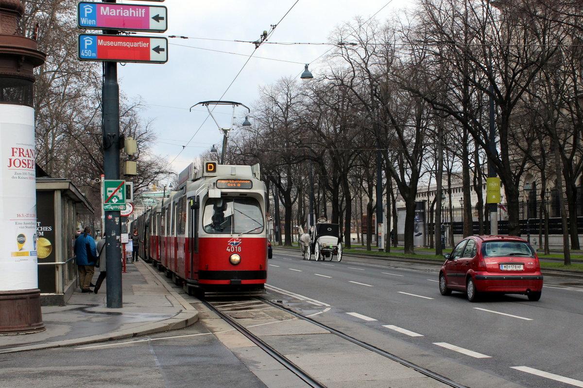 Wien Wiener Linien Sl D E2 4018 Innere Stadt Burgring
