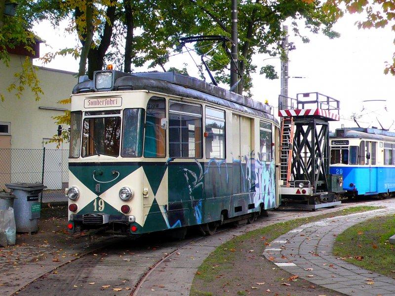 arbeitswagen gotha nr 19 beim depot aufnahmedatum On depot gotha