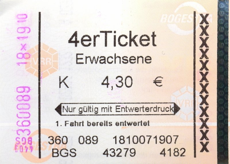 vvs 4er ticket