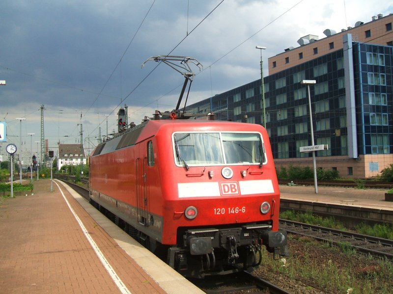 Br 120 146 6 Solo In Dortmund Hbf Gleis 11