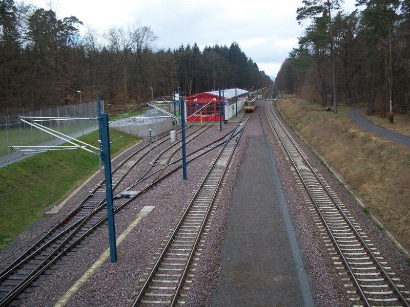 Das Kleine Depot Der Avg Am Endpunkt Der Linie S5 Kurz