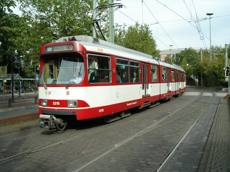 eine doppeltraktion aus duewag stadtbahnwagen gt8su der rheibahn an der westlichen. Black Bedroom Furniture Sets. Home Design Ideas