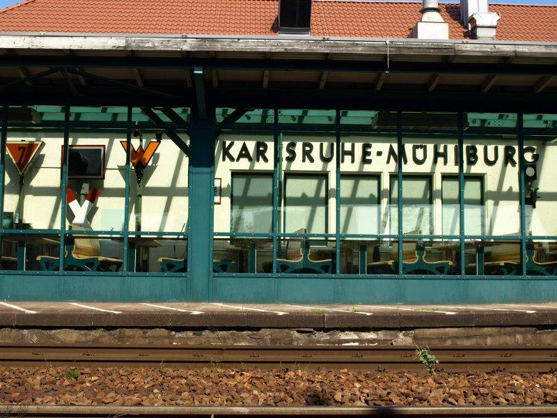Der Bahnhof Karlsruhe M Hlburg Am 16 August 2008 Hier