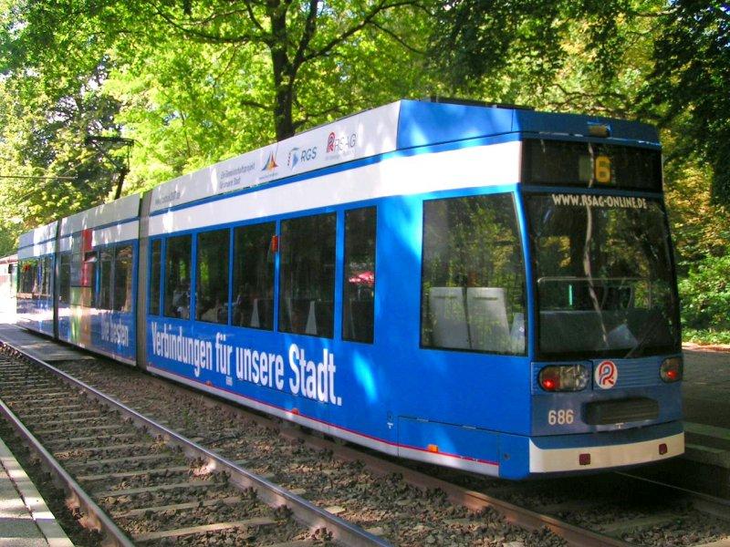 Linie6 In Der Haltestelle Zoo 070828