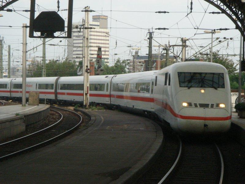 Na Endlich Hat Ice 556 Einfahrt In Den Bahnhof K Ln Hbf