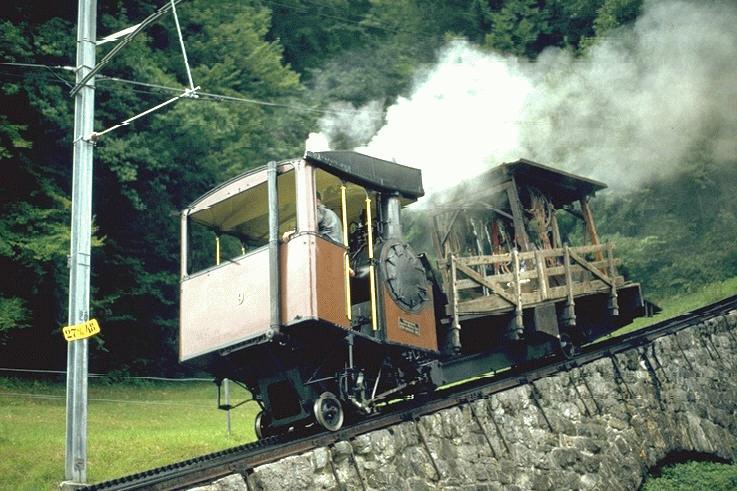 pilatus bahn pbzahraddampflok no9 slm 3496 - The Pilatus Bahn at 130