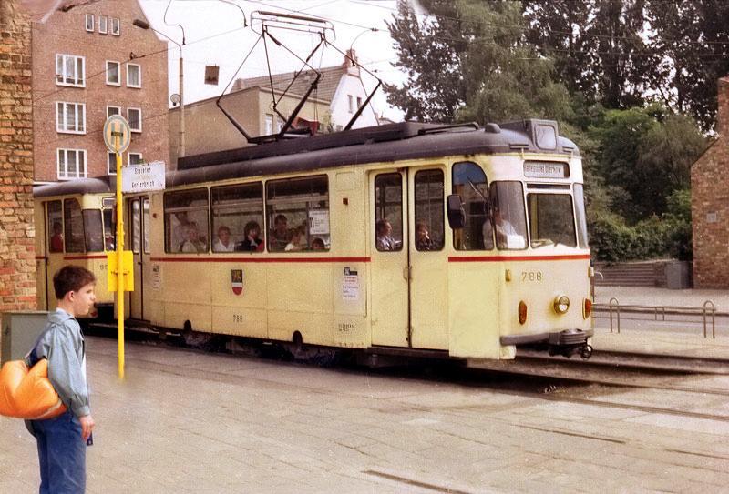 Stra Enbahn Rostock Bei Einem Besuch Aufgenommen 1989