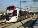 Straßenbahn Paris Linie T11 nach Epinay-sur-Seine in Le Bourget, 15.10.2018.