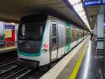 Metro Paris Linie M9 nach Mairie de Montreuil in Miromesnil, 14.10.2018.