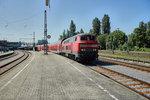218 412-5 ist am 25.05.16 als RB 57770 nach Ulm Hbf. unterwegs gesehen in Lindau/Bodensee.