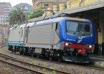 09.06.2016 10:20 FS E 464. 472 und FS E 464. 265 bei der Durchfahrt durch den Bahnhof Rappalo.