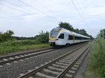 Der ET 5.05 der eurobahn fuhr am 19.08.2016 als RE 3 von Hamm nach Düsseldorf in den Bahnhof Nordbögge ein.