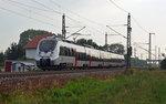 Am Morgen des 13.08.16 war 1442 302 von Falkenberg(Elster) aus nach Bitterfeld unterwegs. Hier passiert der Hamster Gräfenhainichen und wird demnächst am dortigen Haltepunkt halten.