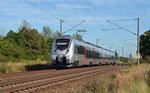 1442 304 rollt am 07.08.16 als S2 nach Dessau durch Greppin.