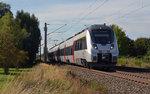 Noch ohne DB-Keks auf der Front rollte 1442 301 a 07.08.16 als S2 nach Leipzig-Connewitz durch Greppin.