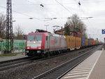 CROSSRAIL 185 599-8 mit Containerzug am 30.01.15 in Ladenburg