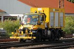 Unimog U400 in Düsseldorf Rath, am 07.07.2016.
