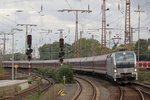 193 817-4 Railpool retrack mit einem Funexpress in Essen Hbf, am 09.10.2016.