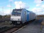 Die Railpool 185 691 stand,am 03.November 2016,in Mukran Mitte.