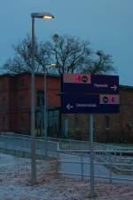 """Ein Fall für die """"3-S-Zentrale"""", denn wer sich im SEV an diesem Schild orientiert, fährt in die entgegengesetzte Richtung."""