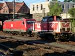 MEG 803(156 003)und EVB 410 02 am Hamburg-Harburger Bf. 17.07.2014