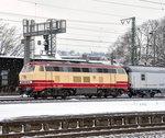 217 001 mit 91861 in Plochingen am 13.2.10.