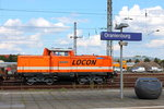 Die LOCON 210 (92 80 1212 275-2  D-LOCON) arbeitet am 22.08.2016 in Oranienburg.