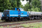 V100-SP-024 (214 014-3) SLG Spitzge Logistik am 24.05.2017 durch Ratingen Lintorf.