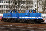 214 018 & 214 014 in Köln West am 08.04.2018