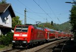 146 111 mit RE 5343 (Offenburg–Basel SBB) am 24.04.2015 in Schallstadt