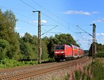 DB 146 123 mit RE 4420 Hannover Hbf - Bremerhaven-Lehe durch Loxstedt am 17.08.16.