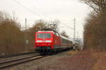 120 132-6 DB in Michelau/ Oberfranken am 27.12.2016.