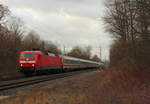 120 104-5 DB in Michelau/ Oberfranken am 27.12.2016.