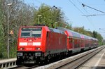 146 232 mit RE 26519 (Offenburg–Basel Bad Bf) am 24.04.2015 in Norsingen