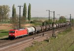 185 292 mit GC 61108 (Hemmingstedt–Basel Bad Rbf) am 22.04.2015 in Müllheim (Baden)