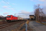 185 280-5 DB Cargo in Oberlangenstadt am 19.12.2016.