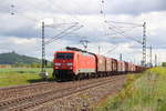 189 002-9 DB Schenker bei Bad Staffelstein am 12.05.2014.